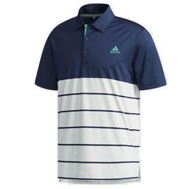 adidas Gents Ultimate 365 Heather Block Polo Shirt Navy - Green