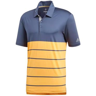 adidas Gents Ultimate 365 Heather Polo Shirt Indigo - Gold