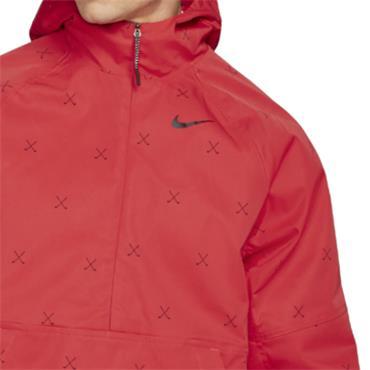 Nike Gents Repel Printed Anorak Jacket Red
