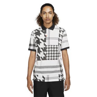 Nike Gents The Nike Polo Shirt Slim Fit Plaid White