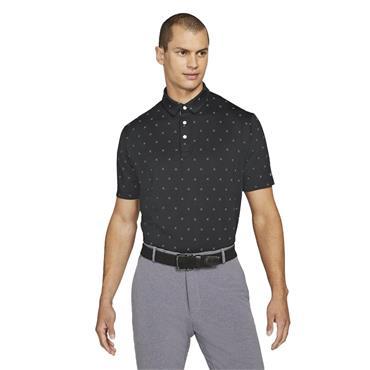 Nike Gents Dri-Fit Player Printed Polo Shirt Black