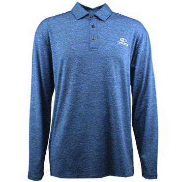 Druids Golf Gents Long Sleeve Polo Shirt Grey