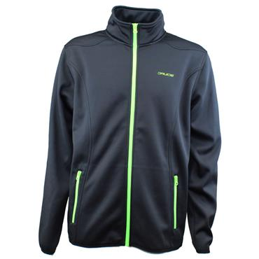 Druids Gents Full Zip Therma Midlayer Black - Lime