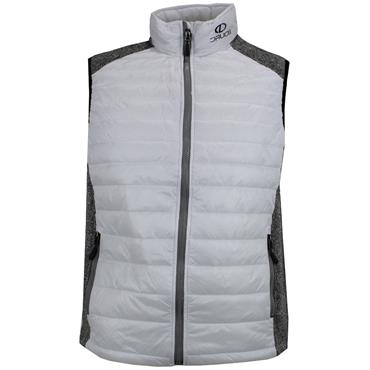 Druids Golf Gents Quilted Vest White - Grey