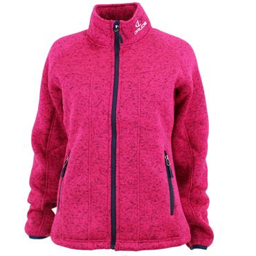 Druids Golf Ladies Sheepskin Fleece Jacket Pink - Navy