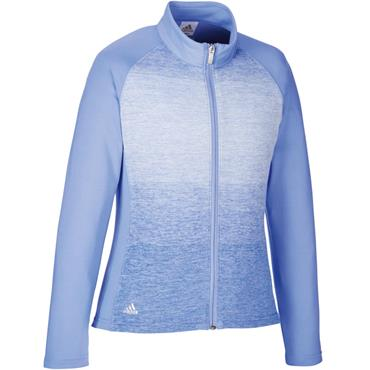 adidas Junior Girls Full Zip Layering Top Violet