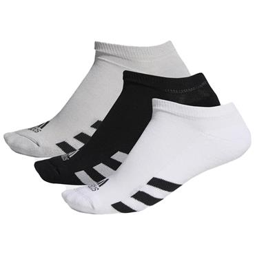 adidas Gents 3-Pack No-Show Socks Black - Grey Two - White