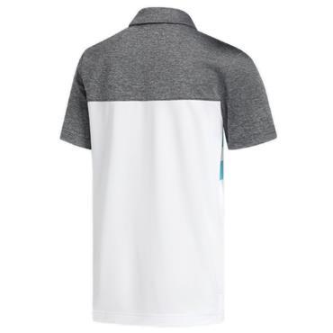 adidas Junior - Boys 3 Stripe Polo Shirt Aqua