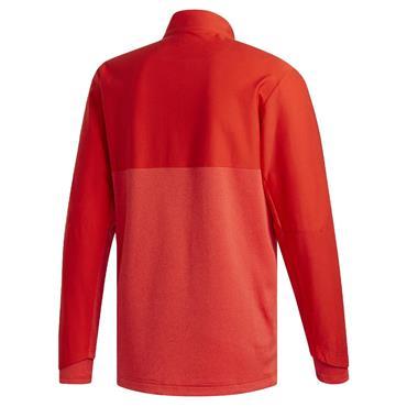 adidas Gents Go-To Adapt 1/4 Zip Top Red
