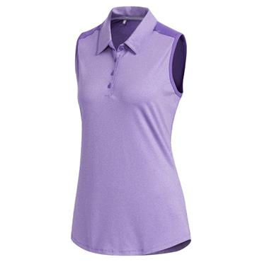 adidas Ladies Ultimate365 Sleeveless Polo Shirt Purple