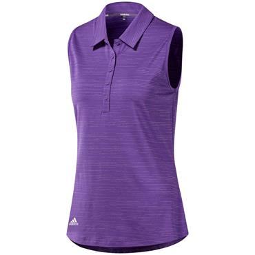 Adidas Ladies Microdot Sleeveless Polo Shirt Purple