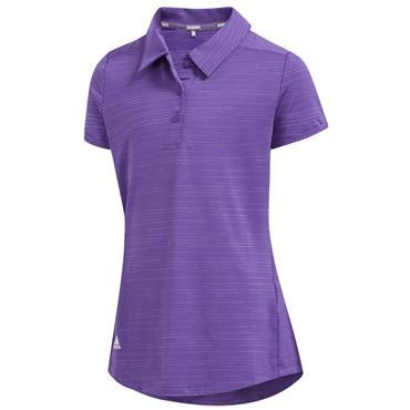 adidas Junior Girls Novelty Polo Shirt Purple