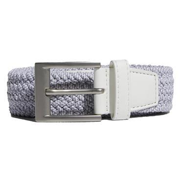 adidas Gents Braided Stretch Belt White - Grey Three