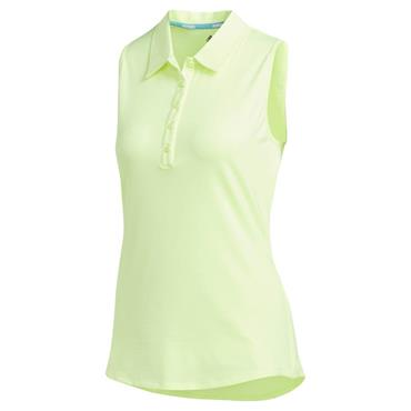 adidas Ladies Microdot Sleeveless Polo Shirt Yellow