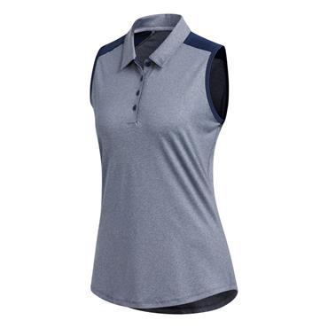 Adidas Ladies Ultimate 365 Sleeveless Polo Shirt Night Indigo