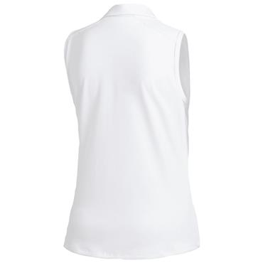 adidas Ladies Ultimate 365 Sleeveless Polo Shirt White