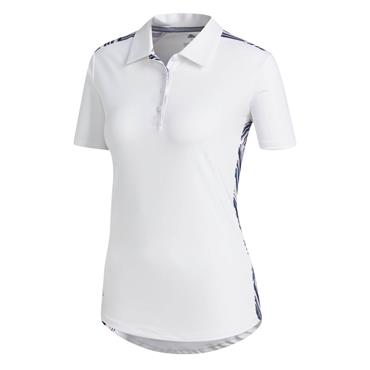 Adidas Ladies Ultimate 365 Novelty Polo Shirt White - Pink