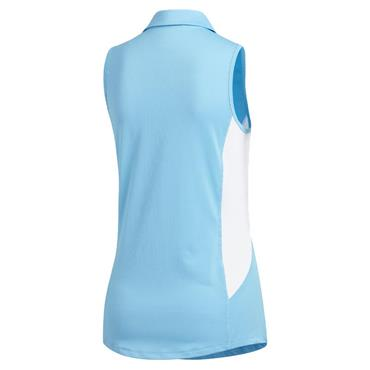 adidas Ladies Ultimate365 Climacool Polo Shirt Cyan