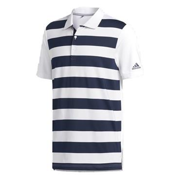 Adidas Gents Ultimate 365 Rugby Polo Shirt White - Navy