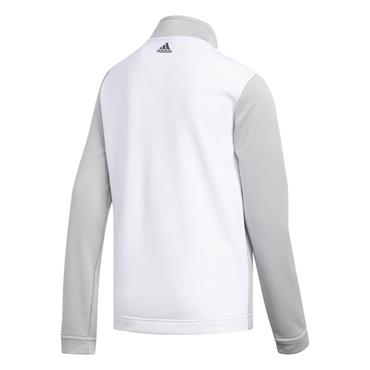 adidas Boys 1/2 Zip Layering Track Top White