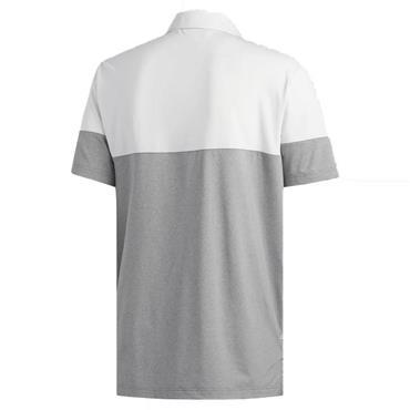 adidas Gents Ultimate 365 Heathered Block Polo Shirt Grey - White