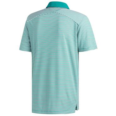 Adidas Gents Climachill Tonal Stripe Polo Shirt Active Green