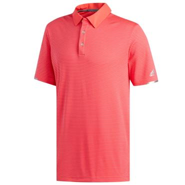 adidas Gents Climachill Tonal Stripe Polo Shirt Shock Red
