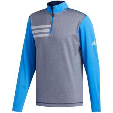 adidas Gents 3-Stripe Competition 1/4 Zip Sweatshirt True Blue