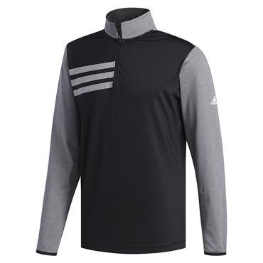 adidas Gents 3-Stripe Competition 1/4 Zip Sweatshirt Black