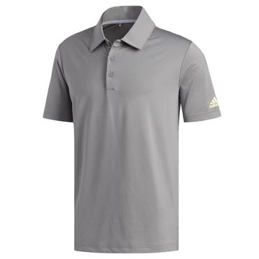 adidas Gents Ultimate365 Solid Crestable Polo Shirt Grey