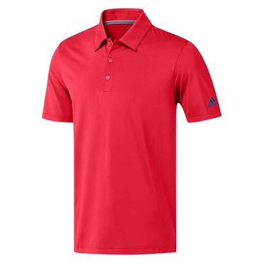 adidas Gents Ultimate365 Solid Polo Shirt Red