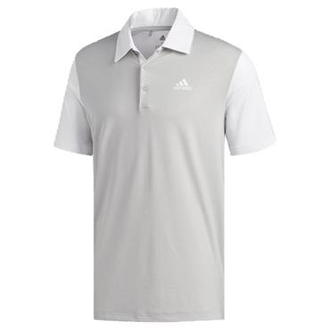 adidas Gents Ultimate365 Camo-Embossed Polo Shirt White - Grey