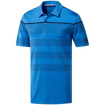 adidas Gents Ultimate 365 Dash Stripe Polo Shirt True Blue