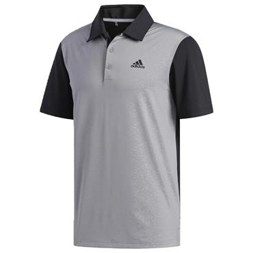 adidas Gents Ultimate365 Camo-Embossed Polo Shirt Black - Grey