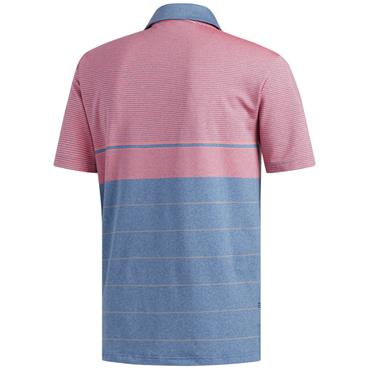 adidas Gents Ultimate 365 Heather Stripe Polo Shirt Blue Marine