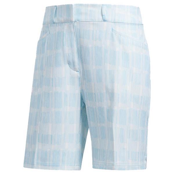 protestante poetas ballena azul  adidas Ladies Ultimate Club Printed Shorts White - Cyan   Golf Store