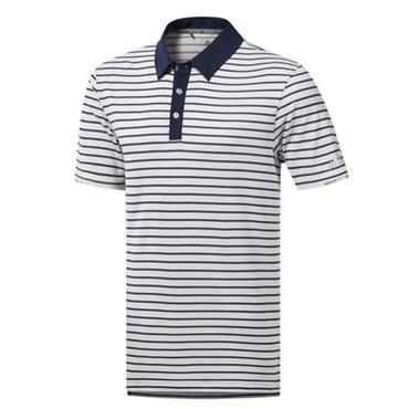 adidas Gents Climachill 3-Colour Stripe Polo Shirt White
