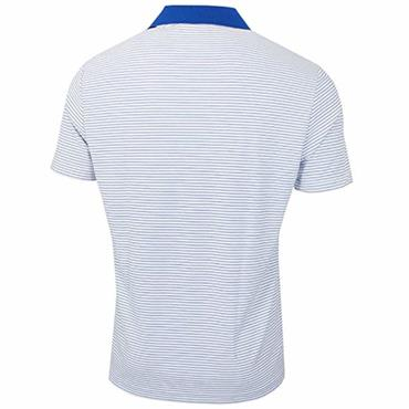 adidas Gents  Performance Stripe Polo Shirt White - Royal