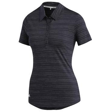 adidas Ladies Microdot Polo Shirt Black