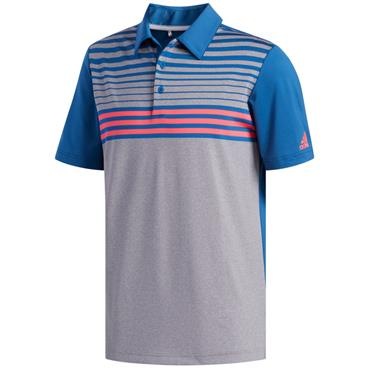 adidas Gents Ultimate 365 3-Stripe Polo Shirt Grey - Marine