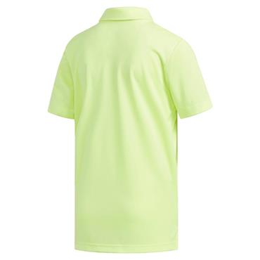 adidas Junior - Boys 3-Stripe Polo Shirt Yellow