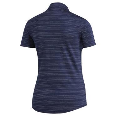 adidas Ladies Microdot Polo Shirt Indigo