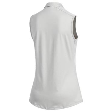 adidas Ladies Ultimate365 Sleeveless Polo Shirt Grey