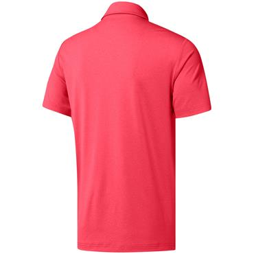 adidas Gents Ultimate 365 Heather Polo Shirt Shock Red