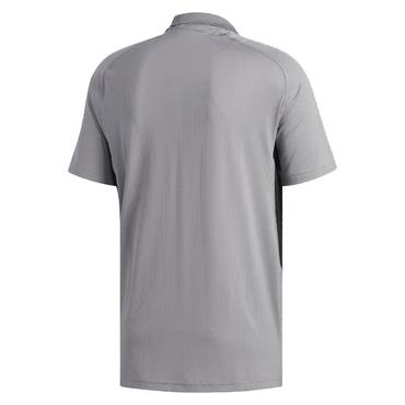 adidas Gents Ultimate365 Climacool Solid Polo Shirt Grey