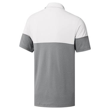 adidas Gents Ultimate 365 Heather Blocked Polo Shirt Grey - White