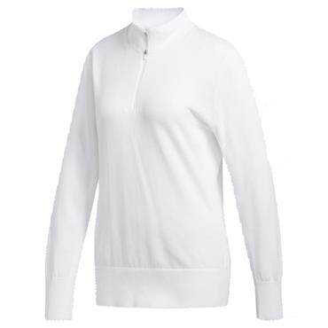 adidas Ladies 3-Stripe Sweatshirt White