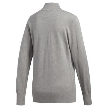 adidas Ladies 3-Stripes Sweater Grey - Heather