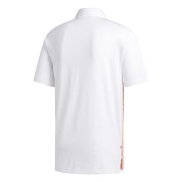 adidas Gents Ultimate365 Colour Block Polo Shirt White - Coral