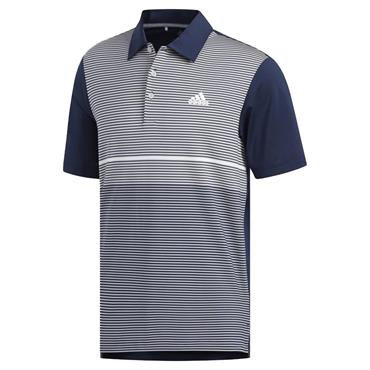 adidas Gents Ultimate365 Colour Block Polo Shirt Navy - Grey